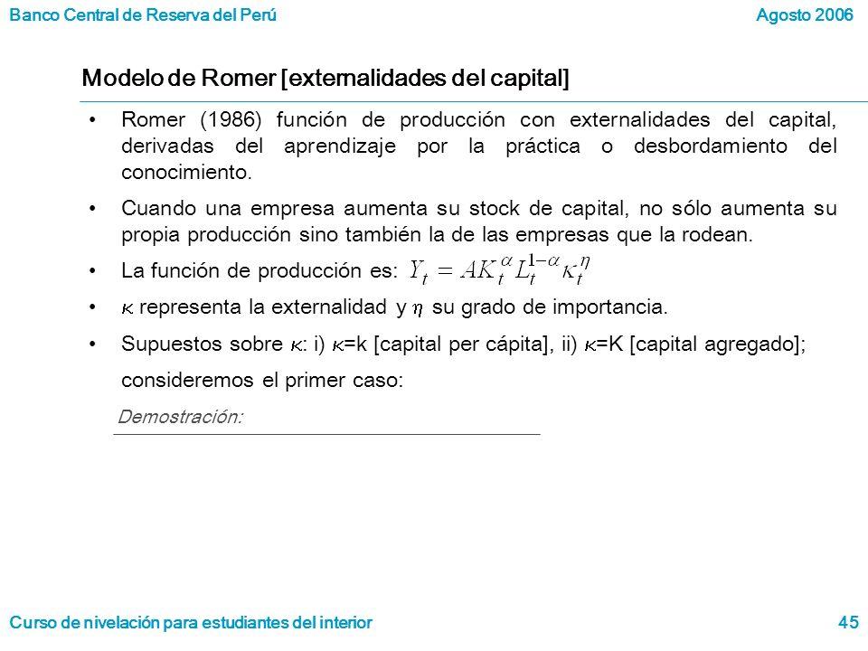 Modelo de Romer [externalidades del capital]
